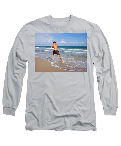 Long Sleeve T-Shirt featuring the photograph Shore Play by Keith Armstrong