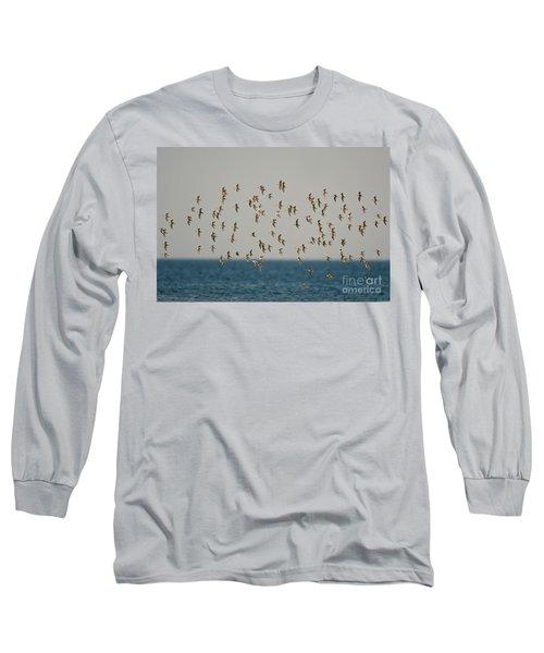Shorebirds Flying Long Sleeve T-Shirt