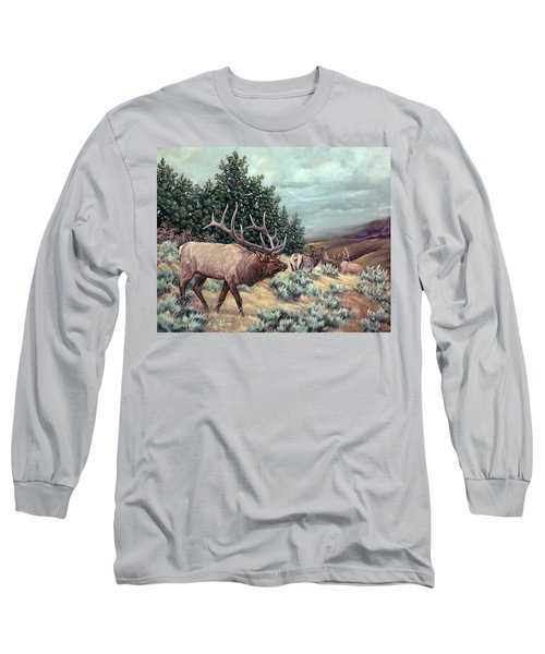 Long Sleeve T-Shirt featuring the painting Showdown by Craig T Burgwardt