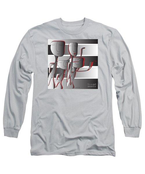 Side By Side Long Sleeve T-Shirt by Iris Gelbart