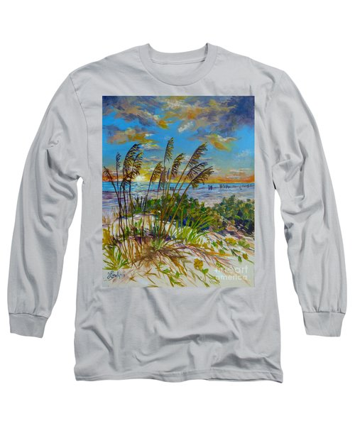 Siesta Beach Sunset Dunes Long Sleeve T-Shirt