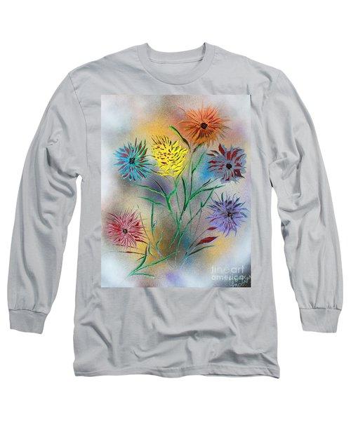 Six Flowers Long Sleeve T-Shirt