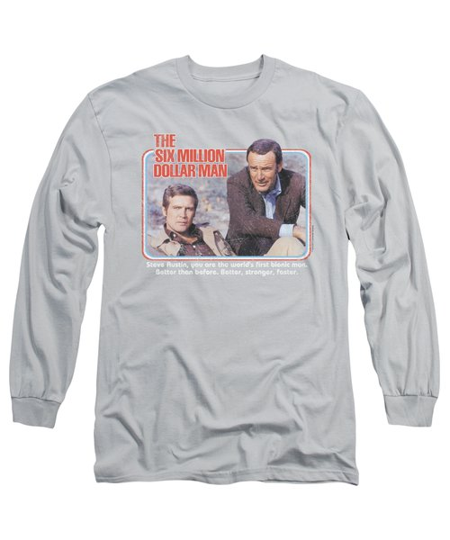 Six Million Dollar Man - The First Long Sleeve T-Shirt by Brand A