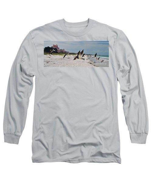 Black Skimmers At Don Cesar Long Sleeve T-Shirt