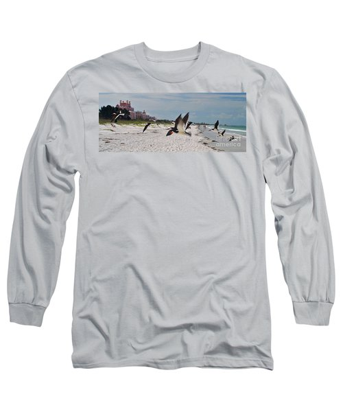 Black Skimmers At Don Cesar Long Sleeve T-Shirt