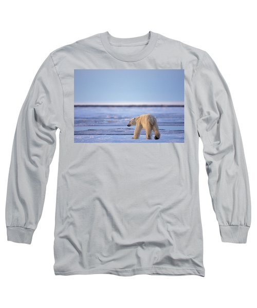 Skinny Hungry Polar Bear Walking Long Sleeve T-Shirt
