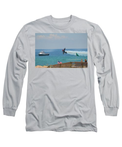 Long Sleeve T-Shirt featuring the photograph Skip Stewart Extreme Low-level Practice by Jeff at JSJ Photography