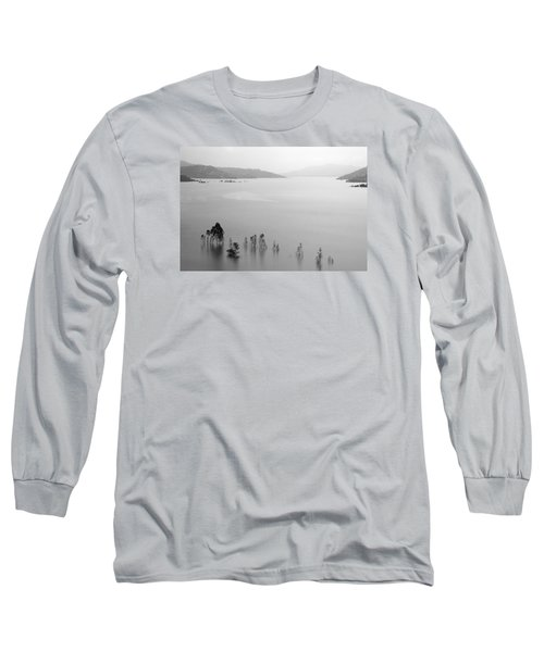 Long Sleeve T-Shirt featuring the photograph Skc 0055 A Hazy Riverscape by Sunil Kapadia