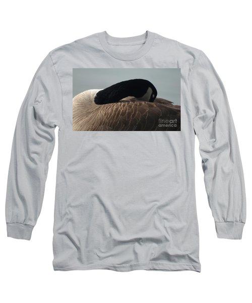 Sleeping Canada Goose Long Sleeve T-Shirt