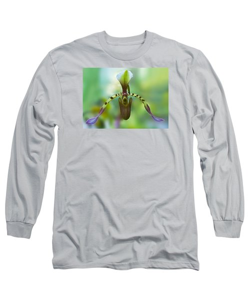 Slipper Orchid Of Selby Gardens Long Sleeve T-Shirt