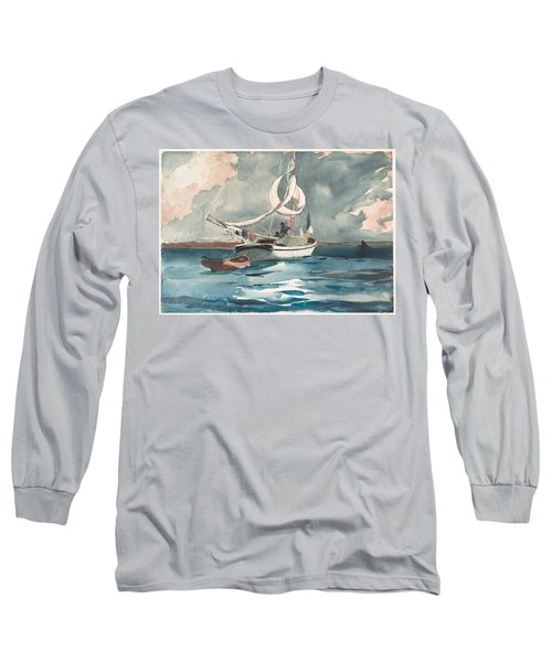 Sloop  Nassau Bahamas Long Sleeve T-Shirt
