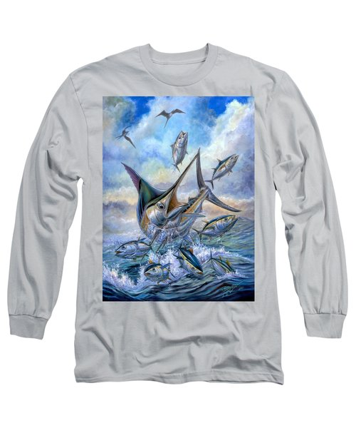 Small Tuna And Blue Marlin Jumping Long Sleeve T-Shirt