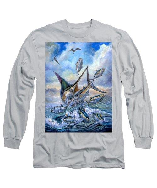 Small Tuna And Blue Marlin Jumping Long Sleeve T-Shirt