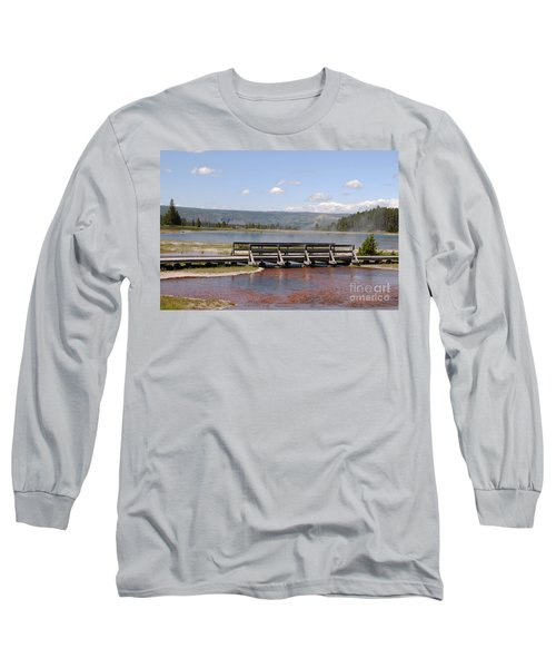 Smoke On The Water Long Sleeve T-Shirt by Mary Carol Story