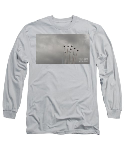 Long Sleeve T-Shirt featuring the pyrography Smoking Planes by Tracey Williams