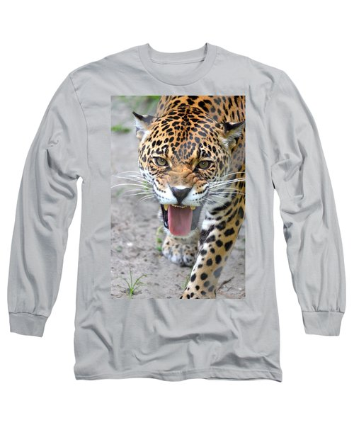 Snarling Jaguar  Long Sleeve T-Shirt by Richard Bryce and Family