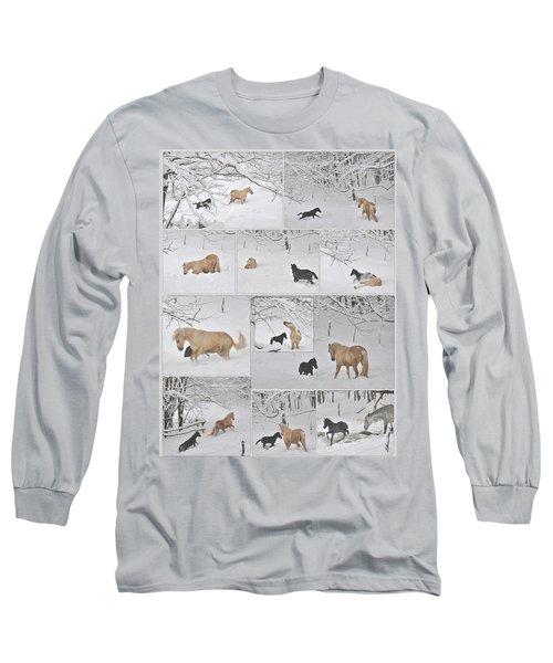 Snow Angels Paso Fino Style Long Sleeve T-Shirt
