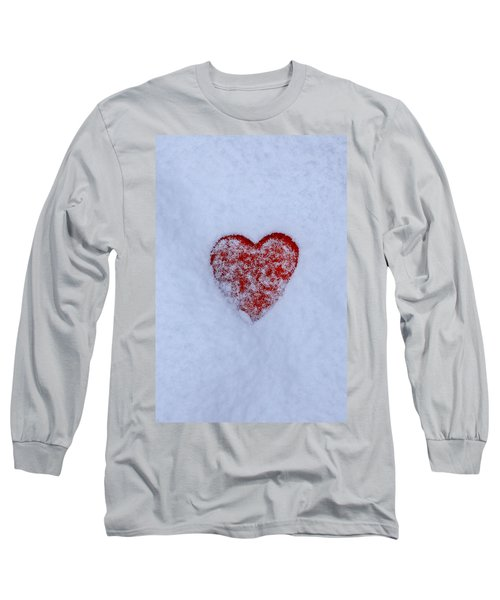 Snow-covered Heart Long Sleeve T-Shirt