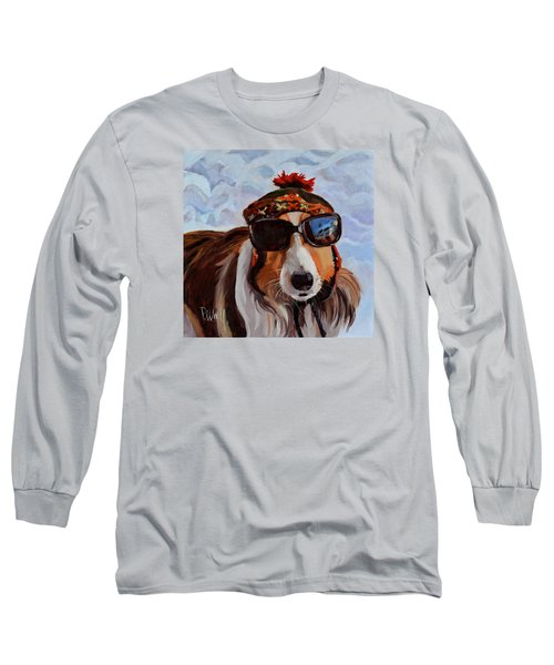 Snow Dog Long Sleeve T-Shirt by Pattie Wall
