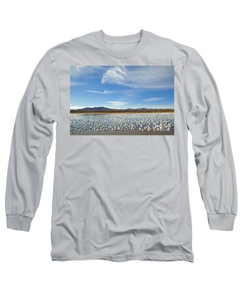 Snow Geese Bosque Del Apache  Long Sleeve T-Shirt