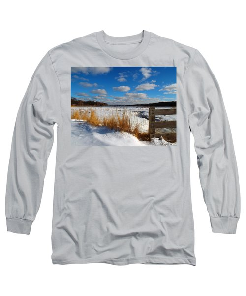 Long Sleeve T-Shirt featuring the photograph Snow Marsh by Dianne Cowen