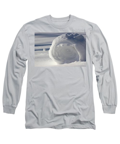 Snow Roller In Late Afternoon Long Sleeve T-Shirt