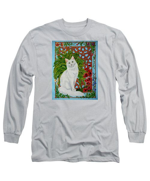 Long Sleeve T-Shirt featuring the painting Snowi's Garden by Leena Pekkalainen
