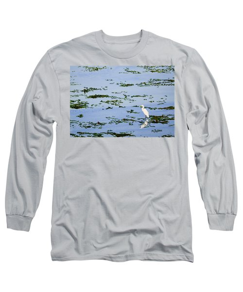 Snowy Egret Long Sleeve T-Shirt by Mike Robles