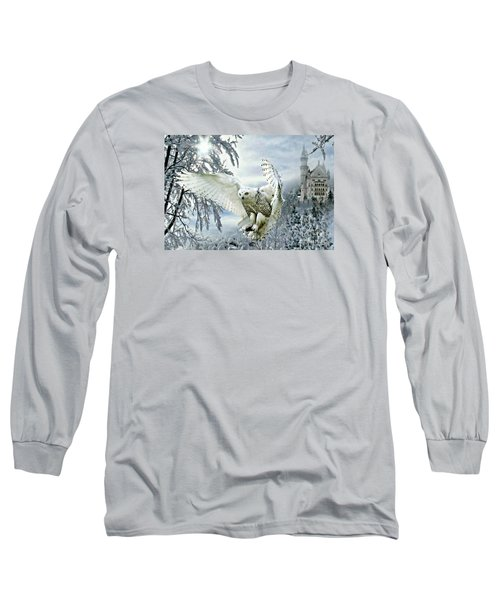 Snowy Owl Long Sleeve T-Shirt by Morag Bates