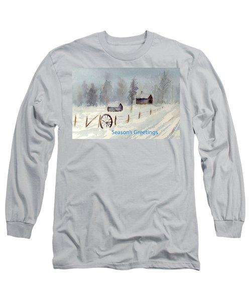 Snowy Road Long Sleeve T-Shirt by Christine Lathrop