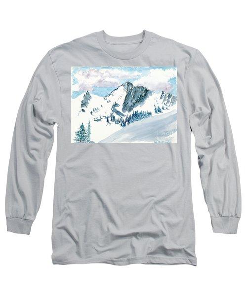 Snowy Wasatch Peak Long Sleeve T-Shirt