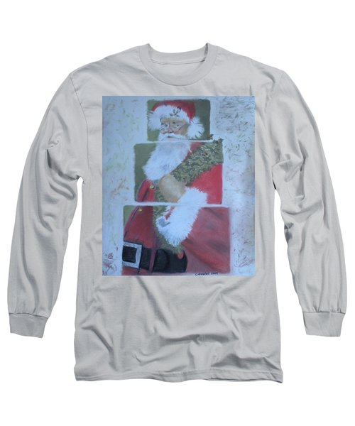 S'nta Claus Long Sleeve T-Shirt by Claudia Goodell