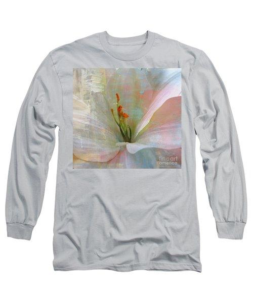 Soft Painted Lily Long Sleeve T-Shirt by Judy Palkimas