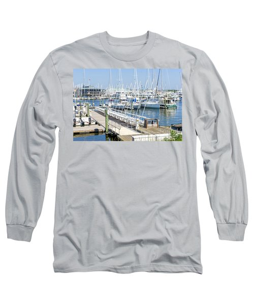 Long Sleeve T-Shirt featuring the photograph Spa At 6th Street by Charles Kraus