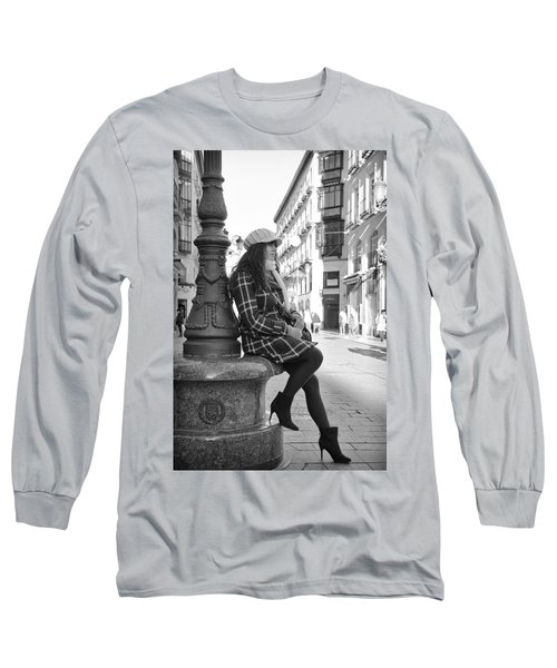 Waiting In This Spanish Street Long Sleeve T-Shirt