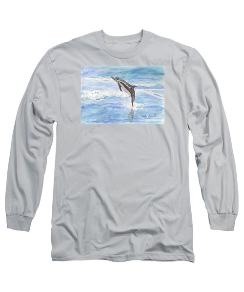 Spinner Dolphin Long Sleeve T-Shirt by Pamela  Meredith