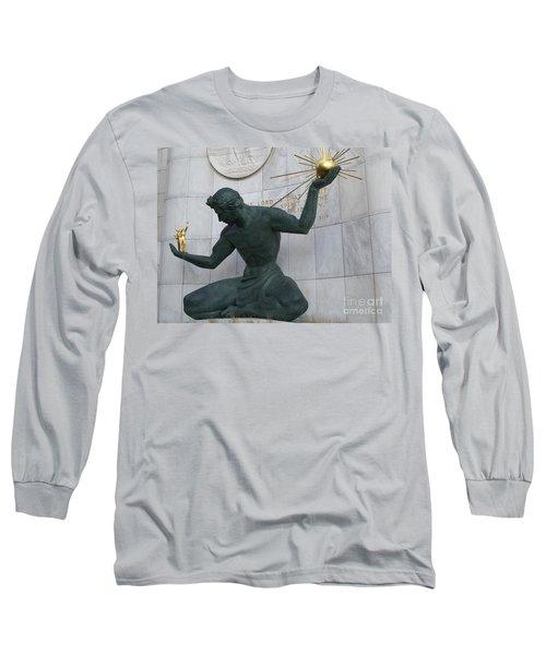 Spirit Of Detroit Long Sleeve T-Shirt by Ann Horn