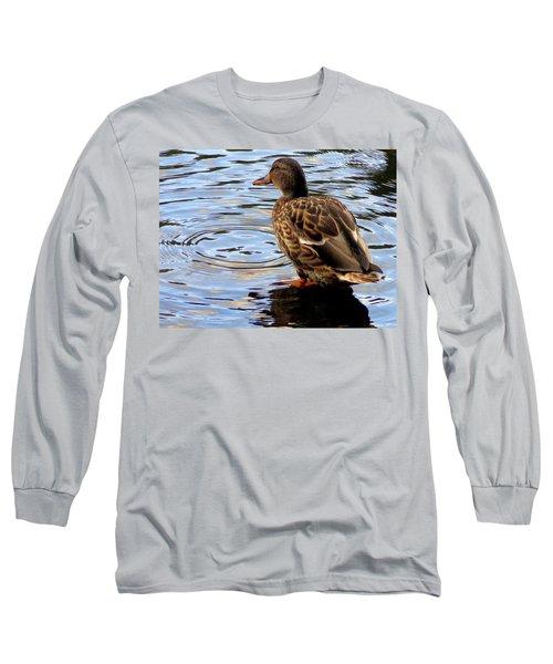 Long Sleeve T-Shirt featuring the photograph Splish Splash by Joseph Skompski