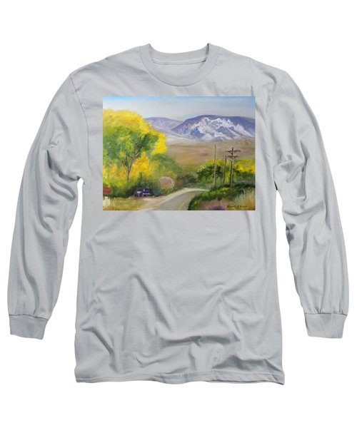 Split Mountain On Golf Course Road Long Sleeve T-Shirt by Sherril Porter