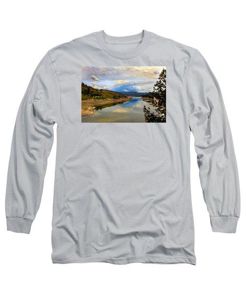 Spokane River Long Sleeve T-Shirt by Robert Bales