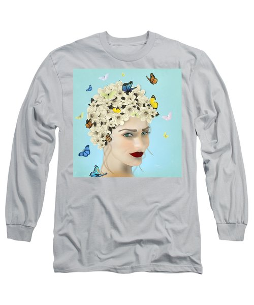 Spring Face - Limited Edition 2 Of 15 Long Sleeve T-Shirt by Gabriela Delgado