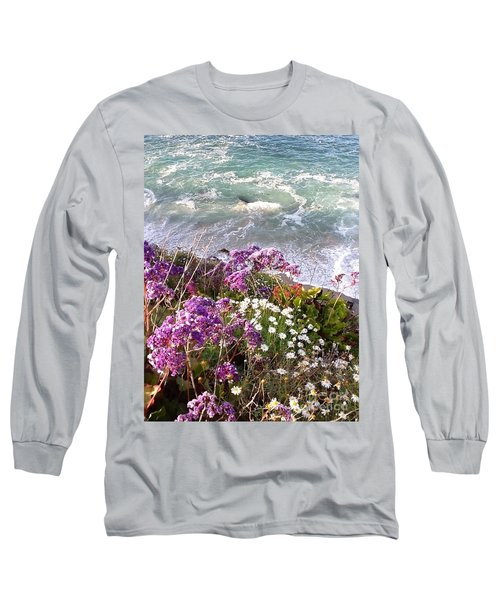 Long Sleeve T-Shirt featuring the photograph Spring Greets Waves by Susan Garren