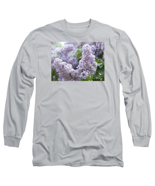 Spring Lilacs In Bloom Long Sleeve T-Shirt by Juli Scalzi