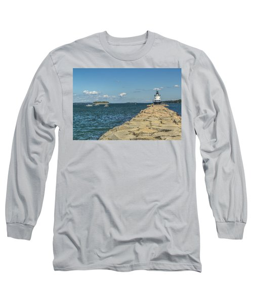 Long Sleeve T-Shirt featuring the photograph Spring Point Ledge Lighthouse by Jane Luxton