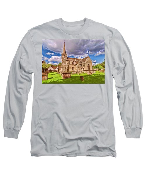 St Cyriac Church Lacock Long Sleeve T-Shirt