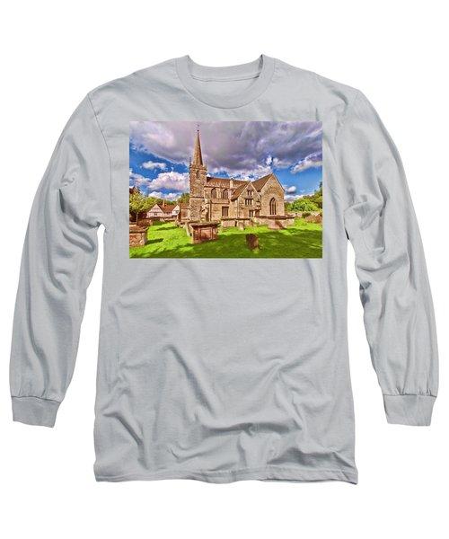 St Cyriac Church Lacock Long Sleeve T-Shirt