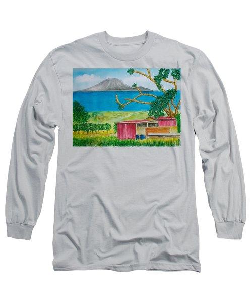 St. Eustatis From St. Kitts Long Sleeve T-Shirt