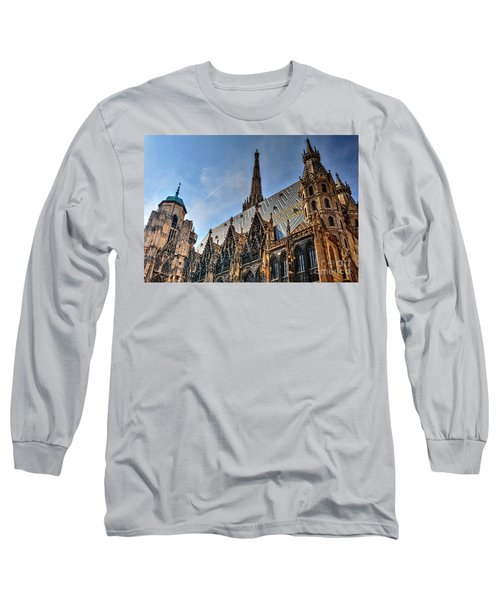 Long Sleeve T-Shirt featuring the photograph St. Stephen's Cathedral by Joe  Ng