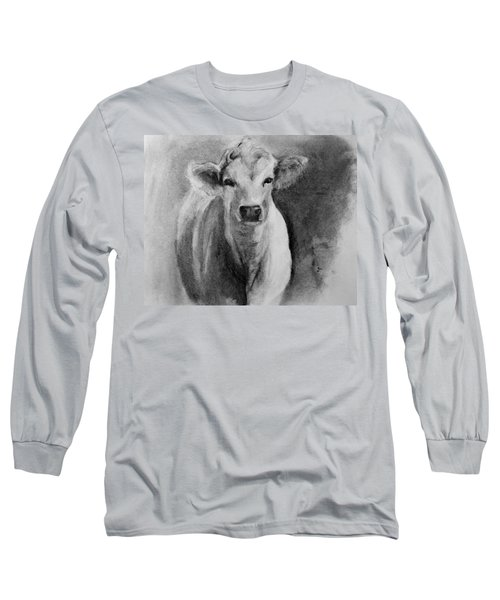Steer- Drawing From Life Long Sleeve T-Shirt by Michele Carter