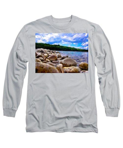 Long Sleeve T-Shirt featuring the photograph Stone Beach by Zafer Gurel